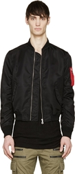 Phenomenon Black Nylon Ma 1 Bomber Jacket