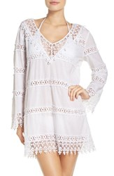 Tory Burch Women's Crochet Lace Cover Up Dress White