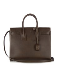 Saint Laurent Sac De Jour Small Leather Tote Dark Brown