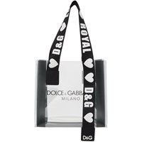 Dolce And Gabbana Transparent Pvc Street Shopping Tote