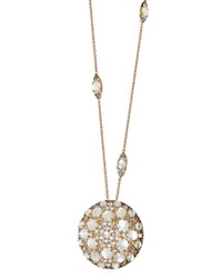 Pasquale Bruni 18K Rose Gold Diamond Champagne Diamond And Mother Of Pearl Pendant Necklace 15.75 White Rose Gold