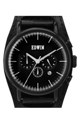 Men's Edwin Chronograph Leather Cuff Watch 46Mm