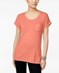 Styleandco. Style Co. Burnout T Shirt Only At Macy's Peach Zing