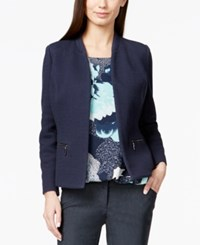 Alfani Petite Collarless Textured Blazer Only At Macy's