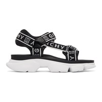 Givenchy Black And White 4G Jaw Sandals