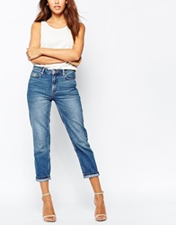 Warehouse Wide Leg Jean Midwash