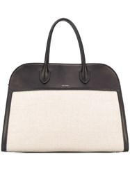 The Row Canvas Panelled Tote Neutrals