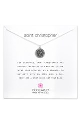 Dogeared St. Christopher Pendant Necklace Silver
