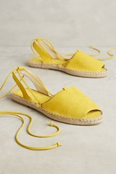 Anthropologie Mint And Rose Ante Macedonia Espadrilles Yellow