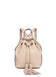 Rebecca Minkoff 'Isobel' Small Tassel Drawstring Leather Backpack Neutral