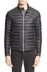 Men's Moncler 'Picard' Quilted Down Moto Jacket