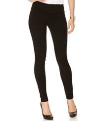 Inc International Concepts Pull On Ponte Skinny Pants Only At Macy's Deep Black