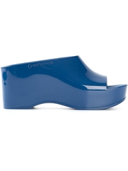 L'autre Chose Rubber Platform Slide Sandals