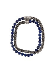 John Hardy Box Chain Wrap Bracelet Blue