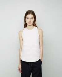 3.1 Phillip Lim Snakeskin Quilted Trapunto Top White