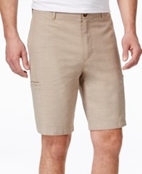 Tasso Elba Men's Cargo Shorts Only At Macy's Khaki Combo
