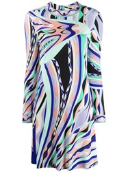 Emilio Pucci Abstract Print Dress Purple