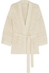 Etoile Isabel Marant Floyd Cable Knit Cotton Blend Cardigan