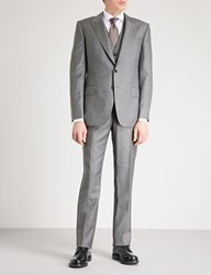 Gieves And Hawkes Micro Textured Regular Fit Wool Suit Grey