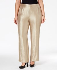 Kasper Plus Size Satin Slim Fit Pants