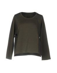 Rose' A Pois Sweatshirts Military Green