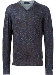 Etro Paisley Print Sweater Multicolour