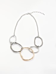 John Lewis Organic Shapes Statement Necklace Silver Gold