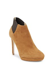Jimmy Choo Leather Stiletto Heel Booties Beige