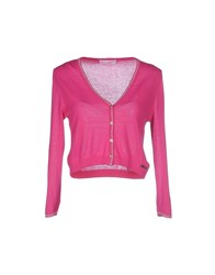 Clips More Knitwear Wrap Cardigans Women Fuchsia