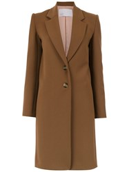 Spacenk Nk Buttoned Trench Coat Brown