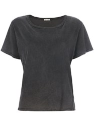 Masscob Classic Fitted T Shirt Women Cotton S Grey