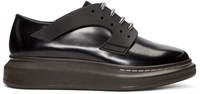 Alexander Mcqueen Black Leather Xl Derbys