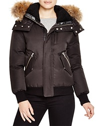 Mackage Abelle Fur Trim Down Jacket Black