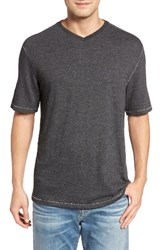 Tommy Bahama Men's Big And Tall Sunday's Best V Neck T Shirt Charcoal Heather