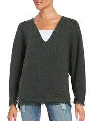 Free People Irresistible V Neck Sweater Green