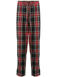 Andrea Crews Logo Check Drawstring Trousers 60