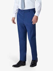 Jaeger Plain Motion Regular Fit Suit Trousers Blue