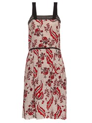 Vanessa Bruno Ecura Ivy Print Silk Crepe Dress
