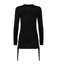 Helmut Lang Crew Neck Knit Sweater Female Black