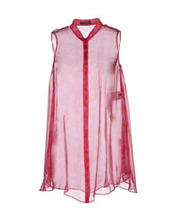 Alexander Mcqueen Shirts Sleeveless Shirts Women Fuchsia