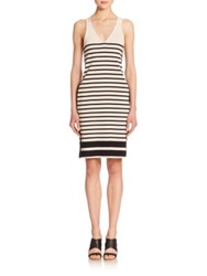 Rag And Bone Avila Striped Racerback Dress White Black