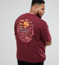 Friend Or Faux Plus Rattler Back Print T Shirt Red