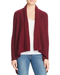 Bloomingdale's C By Basic Open Cashmere Cardigan Cabernet