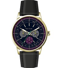 Paul Smith P10006 Precision Gold Plated Stainless Steel And Leather Watch