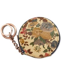 Patricia Nash Denim Fields Mini Scafati Key Chain Pouch Natural