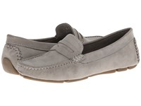 Massimo Matteo Penny Keeper Grey Nubuck Moccasin Shoes Gray