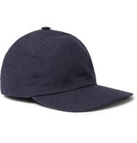 Lock And Co Hatters Rimini Linen Baseball Cap Navy