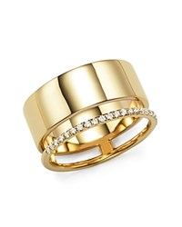 Bloomingdale's Diamond Double Band Ring In 14K Yellow Gold .20 Ct. T.W.