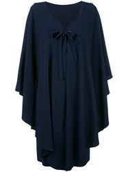 Alberta Ferretti Oversized Dress Blue