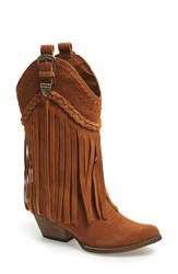 Women's Very Volatile 'Pasa' Suede Western Boot Tan